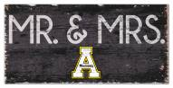 "Appalachian State Mountaineers 6"" x 12"" Mr. & Mrs. Sign"