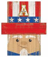 "Appalachian State Mountaineers 6"" x 5"" Patriotic Head"