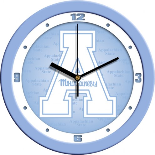Appalachian State Mountaineers Baby Blue Wall Clock