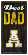 Appalachian State Mountaineers Best Dad Sign