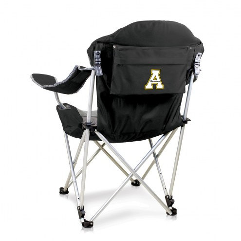 Appalachian State Mountaineers Black Reclining Camp Chair