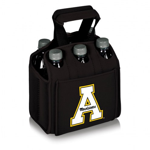 Appalachian State Mountaineers Black Six Pack Cooler Tote