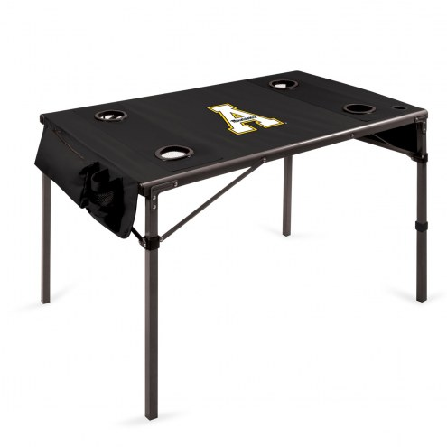 Appalachian State Mountaineers Black Travel Table