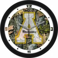 Appalachian State Mountaineers Camo Wall Clock