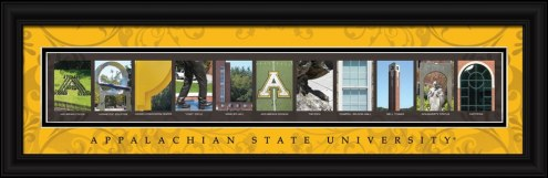 Appalachian State Mountaineers Campus Letter Art