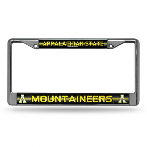 Appalachian State Mountaineers Chrome Glitter License Plate Frame