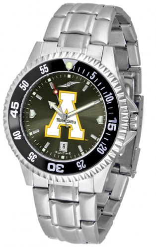 Appalachian State Mountaineers Competitor Steel AnoChrome Color Bezel Men's Watch