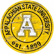 Appalachian State Mountaineers Distressed Round Sign
