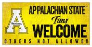 Appalachian State Mountaineers Fans Welcome Sign