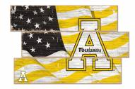 Appalachian State Mountaineers Flag 3 Plank Sign