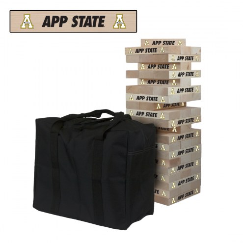 Appalachian State Mountaineers Giant Wooden Tumble Tower Game