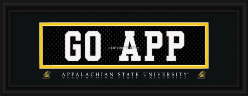 """Appalachian State Mountaineers """"Go App"""" Stitched Jersey Framed Print"""