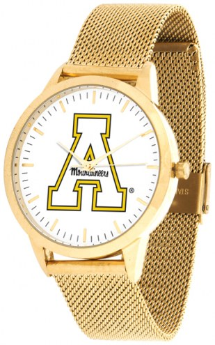 Appalachian State Mountaineers Gold Mesh Statement Watch