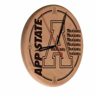 Appalachian State Mountaineers Laser Engraved Wood Clock