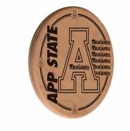 Appalachian State Mountaineers Laser Engraved Wood Sign