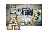 Appalachian State Mountaineers I Love My Family Clip Frame