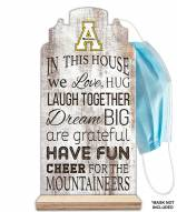 Appalachian State Mountaineers In This House Mask Holder