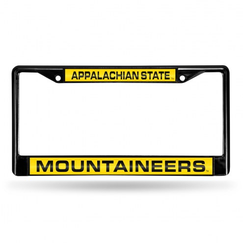 Appalachian State Mountaineers Laser Black License Plate Frame