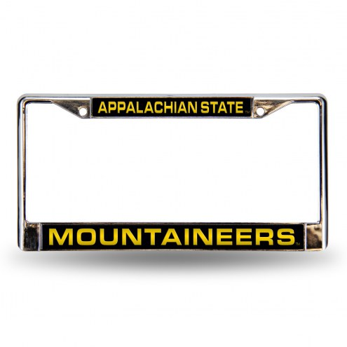 Appalachian State Mountaineers Laser Chrome License Plate Frame