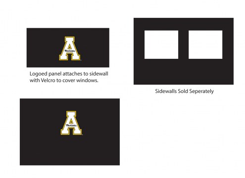 Appalachian State Mountaineers Logo Canopy Sidewall Panel (Attaches to Window Sidewall)