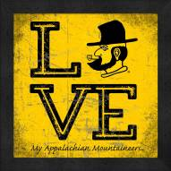 Appalachian State Mountaineers Love My Team Color Wall Decor