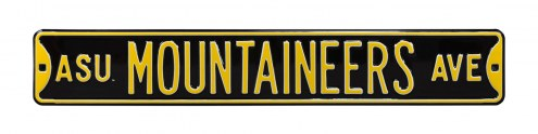 Appalachian State Mountaineers NCAA Embossed Street Sign