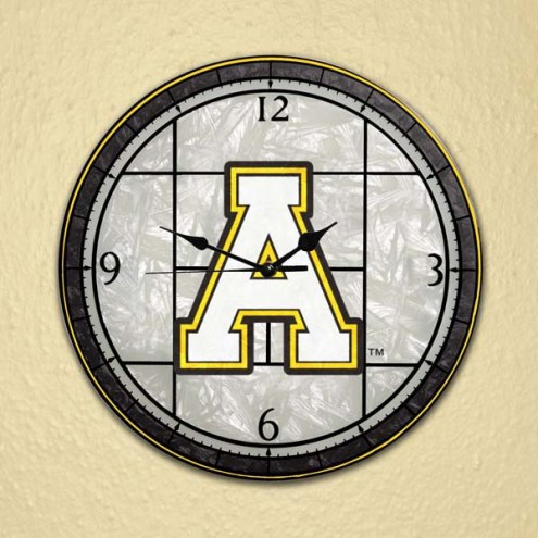 Appalachian State Mountaineers NCAA Stained Glass Wall Clock