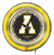 Appalachian State Mountaineers Neon Clock