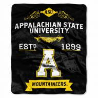 Appalachian State Mountaineers Label Raschel Throw Blanket