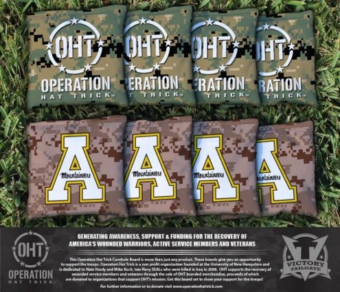 Appalachian State Mountaineers Operation Hat Trick Cornhole Bag Set