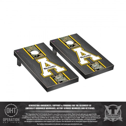 Appalachian State Mountaineers Operation Hat Trick Onyx Stained Cornhole Game Set