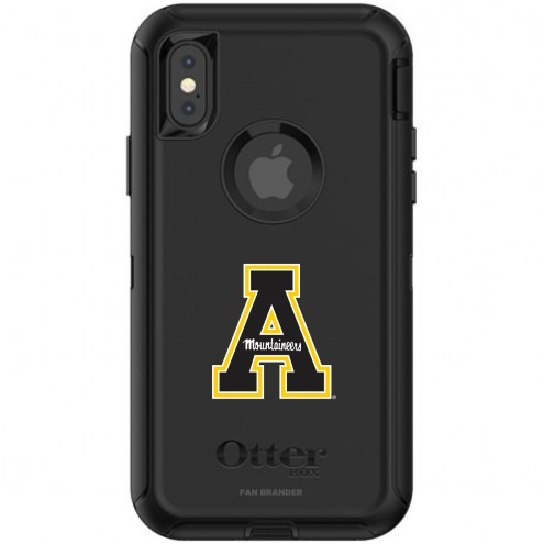 Appalachian State Mountaineers OtterBox iPhone X/Xs Defender Black Case