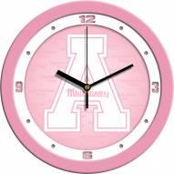 Appalachian State Mountaineers Pink Wall Clock