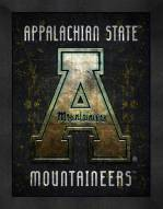 Appalachian State Mountaineers Retro Logo Map Framed Print