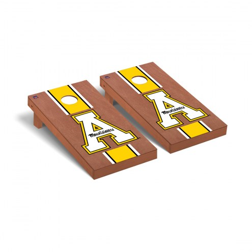 Appalachian State Mountaineers Rosewood Stained Cornhole Game Set