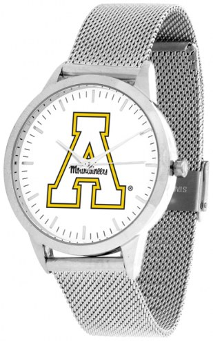 Appalachian State Mountaineers Silver Mesh Statement Watch