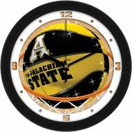 Appalachian State Mountaineers Slam Dunk Wall Clock