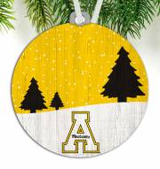 Appalachian State Mountaineers Snow Scene Ornament