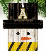 Appalachian State Mountaineers Snowman Ornament
