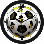 Appalachian State Mountaineers Soccer Wall Clock