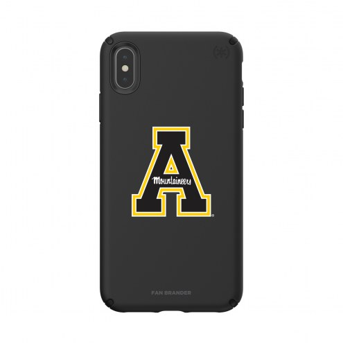 Appalachian State Mountaineers Speck iPhone XS Max Presidio Pro Black Case