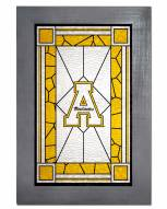 Appalachian State Mountaineers Stained Glass with Frame