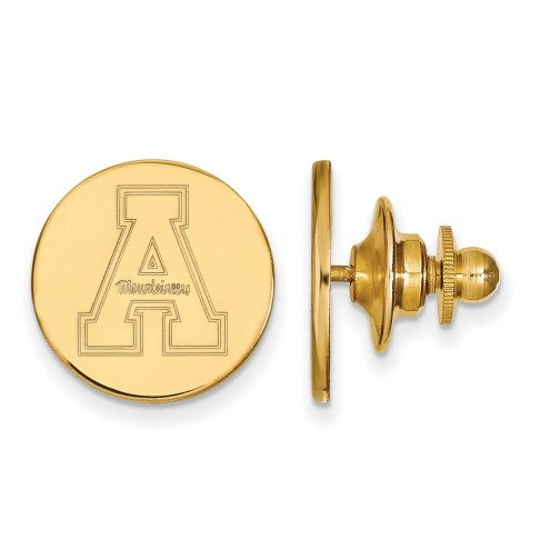 Appalachian State Mountaineers Sterling Silver Gold Plated Lapel Pin