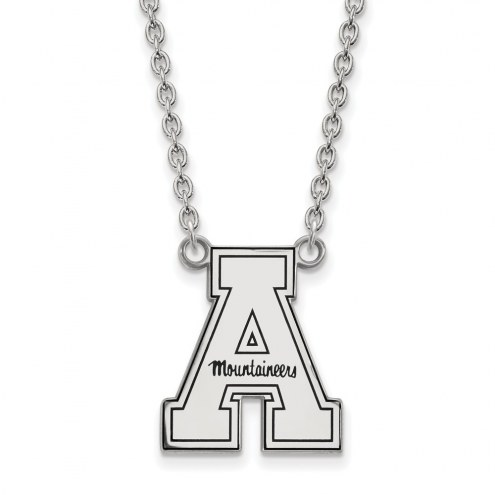 Appalachian State Mountaineers Sterling Silver Large Pendant Necklace