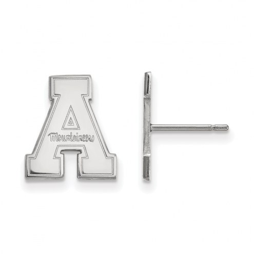 Appalachian State Mountaineers Sterling Silver Small Post Earrings