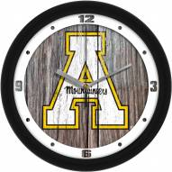 Appalachian State Mountaineers Weathered Wood Wall Clock