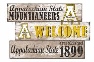 Appalachian State Mountaineers Welcome 3 Plank Sign
