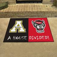 Appalachian State/NC State House Divided Mat