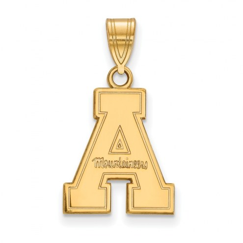 Appalachian State Mountaineers NCAA Sterling Silver Gold Plated Medium Pendant