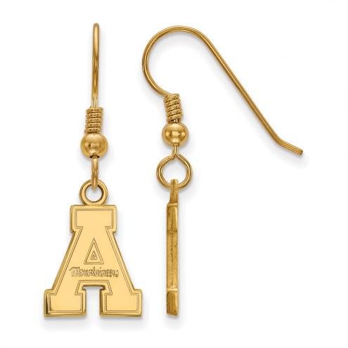 Appalachian State Mountaineers Sterling Silver Gold Plated Small Dangle Earrings